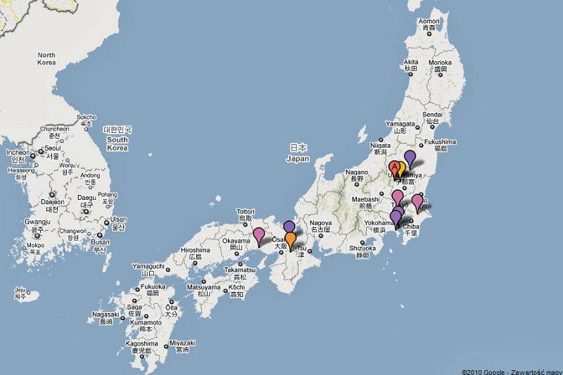 Japonia 2010 - tam byliśmy